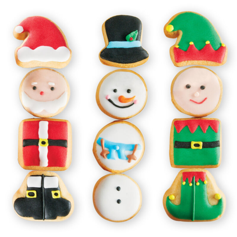 Decorated Christmas Sugar Cookies - Set of 12