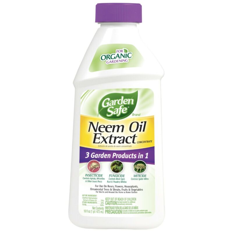 Neem Oil Extract Concentrate For Organic Gardening Protects Fruits & Vegetables
