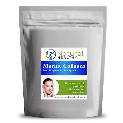 60 Pure Marine Collagen 600mg Pills - Natural And Healthy UK Diet Supplement - Marin 60 Tablets