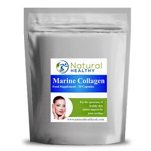 30 Pure Marine Collagen 600mg Pills - Natural And Healthy UK Diet Supplement
