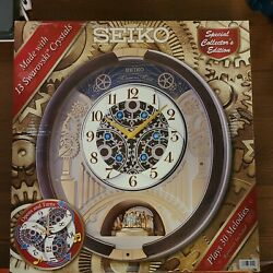 Seiko Special Collection Edition Melodies in Motion Clock with Swarovski Crystal