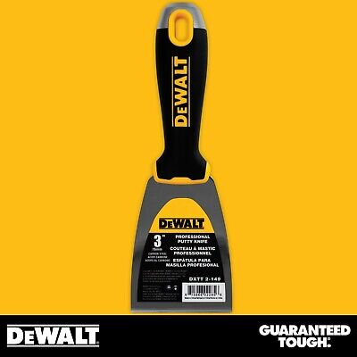 Dewalt Putty Knife 3 Carbon Steel Flexible Drywall Joint Paint Scraper