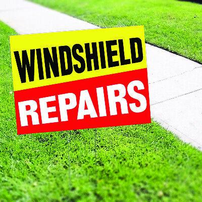 Wind Shield Repairs Plastic Novelty Indoor Outdoor Coroplast Yard Sign