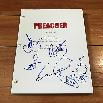PREACHER SIGNED PILOT SCRIPT BY 5 CAST - DOMINIC COOPER RUTH NEGGA w/ PROOF