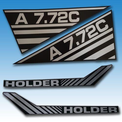 Aufkleber-Satz Holder A 7.72C 4-teilig Traktor Schlepper  Foto 1