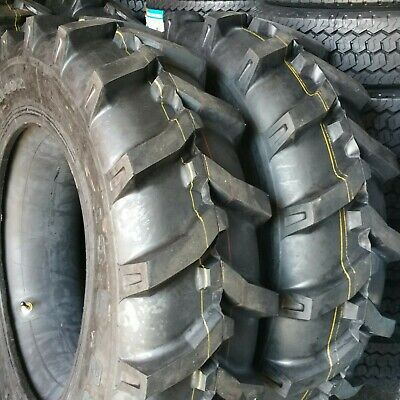 14.9-24 Road Crew 12 Ply R1 Rear Backhoe 2-tires Tubes Tractor Farm 14.9x24