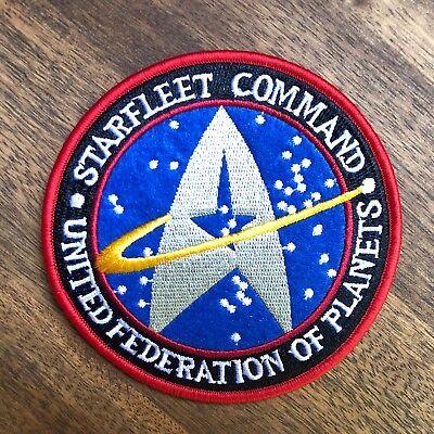 Star Trek Starfleet Command Patch Aufnäher Cosplay Kostüm 10cm NEU
