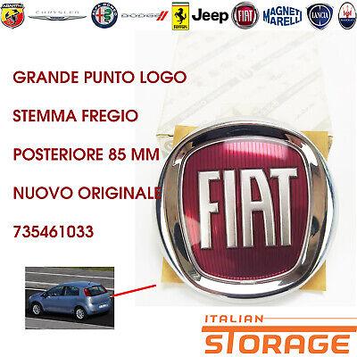 Grande Punto Logo Emblema Friso Trasero 85MM Nuevo Original 735461033