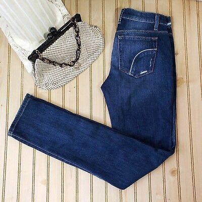 Joes Jeans Sz 26 Best Friend Distressed Maggie Dark Wash Straight Leg Stretch