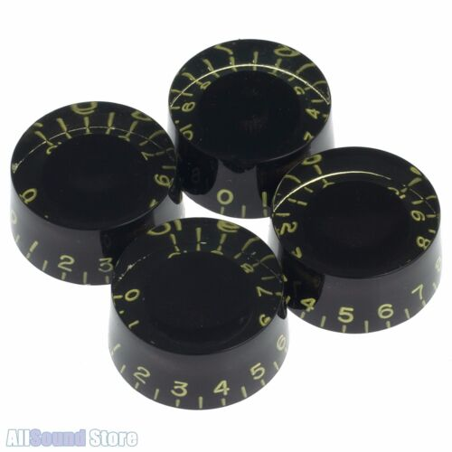 (4) RELIC AGED TINT BLACK Vintage Style Speed Knobs for Gibson® USA CTS® Pots