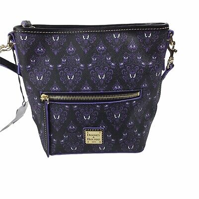 Disney Dooney & Bourke 2020 Haunted Mansion Wallpaper Small Crossbody Bag NWT