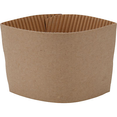 50 ct. 10 - 20 Oz. Eco Disposable Brown Coffee Cup Sleeves / Jacket / Clutch