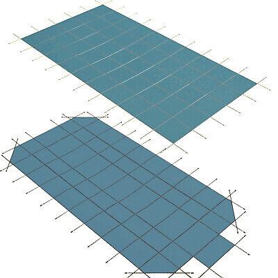 Pool Safety Cover Rectangle Inground for Winter Swimming Pool Mesh -