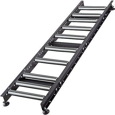 Vevor 5 Ft Roller Gravity Conveyor W 1.5 Galvanized Steel Roller 14 Wide