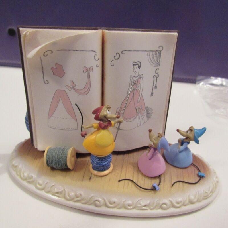 Disney Olszewski Cinderella Pink Dress We Can Do It Figure Suzy Sewing Mice