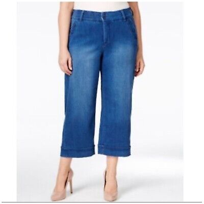 Melissa Mccarthy Seven7 (Plus Size) Sailor Cropped Ankle Jeans Size 16
