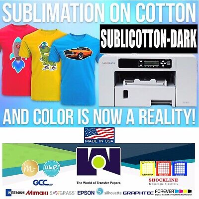 10 Sheets 8.5 X 11 New Sublicotton-dark Heat Transfer Paper Go2cotton Dark