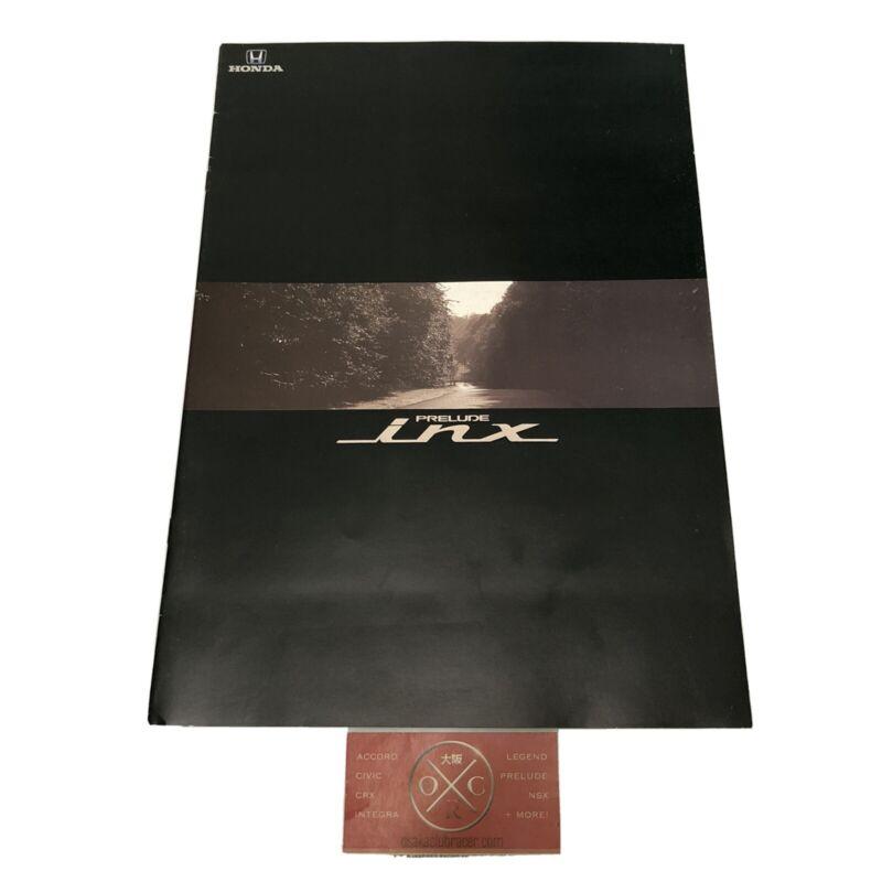 88-91 Honda Prelude iNX JDM Brochure Catalog OEM 87 89 90 Rare BA4 BA5 2.0Si Si