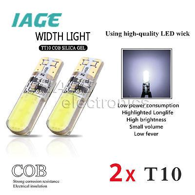 2x T10 Car LED Light 194 W5W COB Car Kieselsäure Flash Strobe Side Bulb Lamp 12V