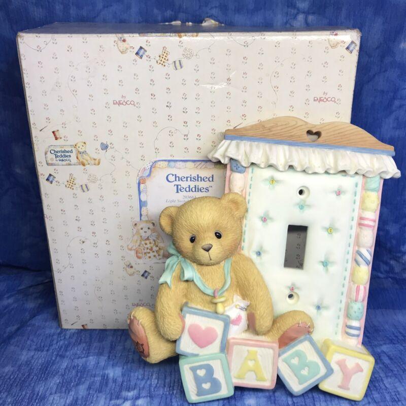 Cherished Teddies Light Switch Plate Cover Baby Nursery 203661 Enesco 1996