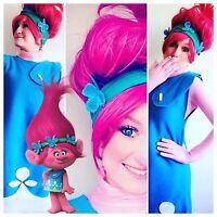 Princess parties poppy troll Elsa Anna shimmer and shine