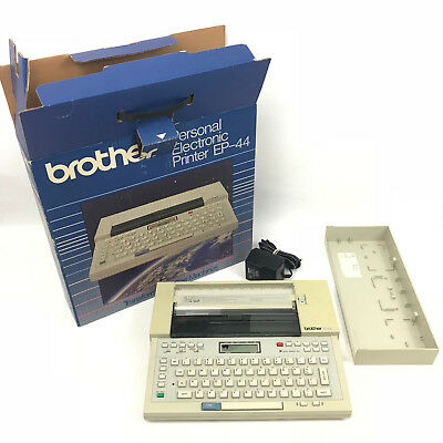 Vintage Brother Ep44 Portable Electronic Typewriter Printer Word Processor
