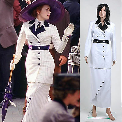 Classic Movie Titanic Rose Boarding Suit Dress Costume Halloween Party Event  (Classic Movie Halloween Costumes)
