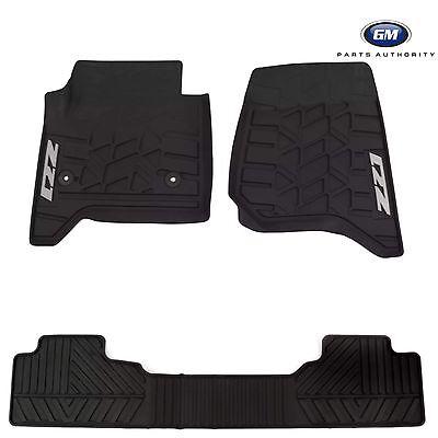 2014-2018 Chevrolet Silverado Premium All Weather Front & Rear Floor Mats Black