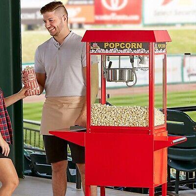 Commercial 8 Oz. Stainless Steel Commercial Popcorn Machine Popper 120v 1320w