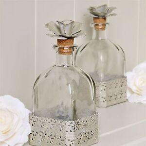 Flower Top Glass Bottle Bathroom Dressing Table Bottle Pretty Decorative Bottle