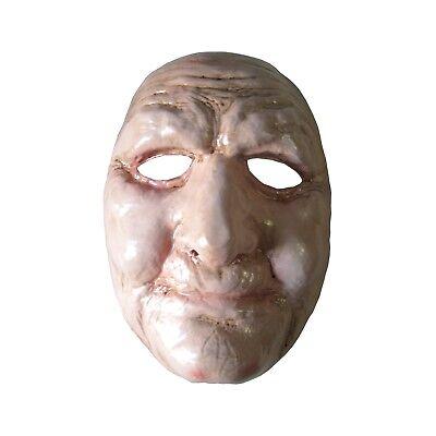 Old Man or Woman Half Mask Bald Funny Adult Halloween Costume Accessory - Half Woman Half Man Halloween Costume