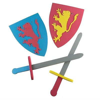 Kids Foam Toy Swords and Shields Duel Medieval Pretend Play Toddlers Knights