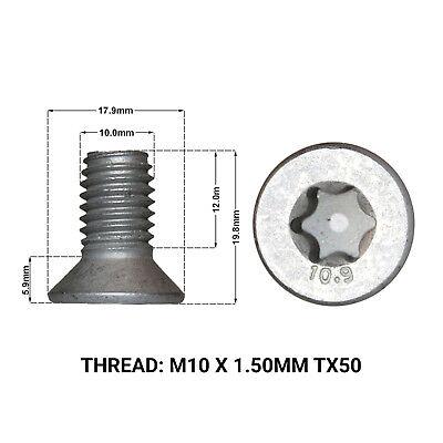 2X FRONT BRAKE DISC RETAINING SCREWS FITS: VOLVO V70 07-16 DRS1670F