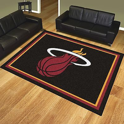 Miami Heat 8' X 10' Decorative Ultra Plush Carpet Area Rug - Miami Heat Decorations