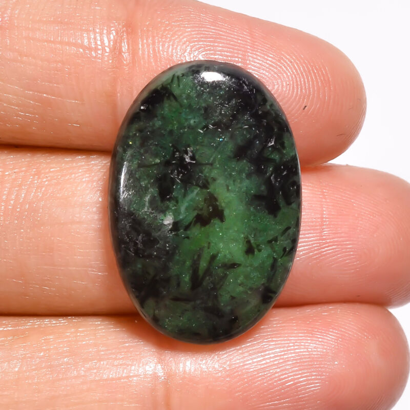 AAA+ Natural Ruby Zoisite Oval Cabochon Loose Gemstone 20 Ct. 25X17X5mm EE-20243