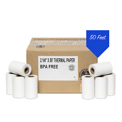 2 14 X 50 Thermal Paper 100 Rolls - First Data Fd400 Credit Card Terminal