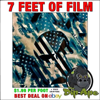 Hydrographic Film We The People Flag Skulls Hydro Dip Dipping 7