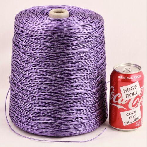 BULK LOT Solid Purple Metallic #30 Needloft Nylon Craft Cord - 4,000 feet! USA