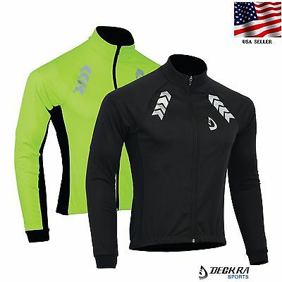 Mens Cycling Softshell Jacket Long Sleeve Thermal Windstopper Bicycling (Cycling Softshell)