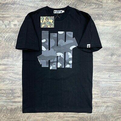 BAPE by A Bathing Ape x Undefeated 5 Strikes Gray Camo on Black T-shirt