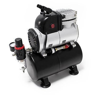 Airbrush Kompressor AF189 mit Lufttank Wasserabscheider Druckminderer Manometer