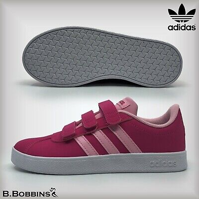 👟 Adidas VL Court 2.0 Pink H&L Trainers Size UK 10 11 12 13 1 2 3 Kids Girls