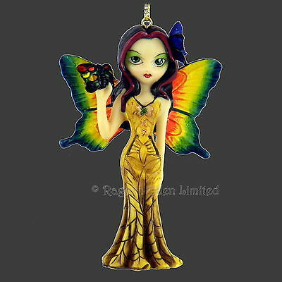 FAIRY WITH A BUTTERFLY MASK Fantasy Hanging Figurine By Jasmine Becket-Griffith