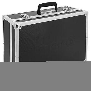 Alukoffer Schwarz Aluminiumkoffer Werkzeugbox Aluminium Koffer Aufbewahrungsbox