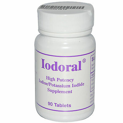 Iodoral 12.5mg Iodine 90 Tablets Optimox Thyroid Support