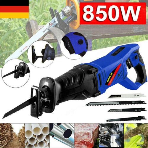 Elektro Säbelsäge 850 W Tigersäge elektrischer Fuchsschwanz Reciprosäge mit LED