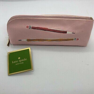Pink Kate Spade Pencil Case and Stationary Set - New With Tag - Makeup Brush Bag