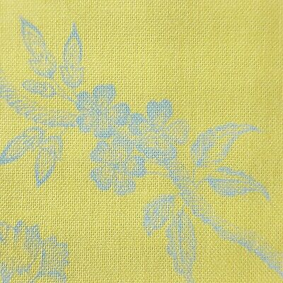 Anna Griffin Floral Collection (Anna Griffin The Flora Collection Fabric Yellow Blue Floral Print Cotton Yard )