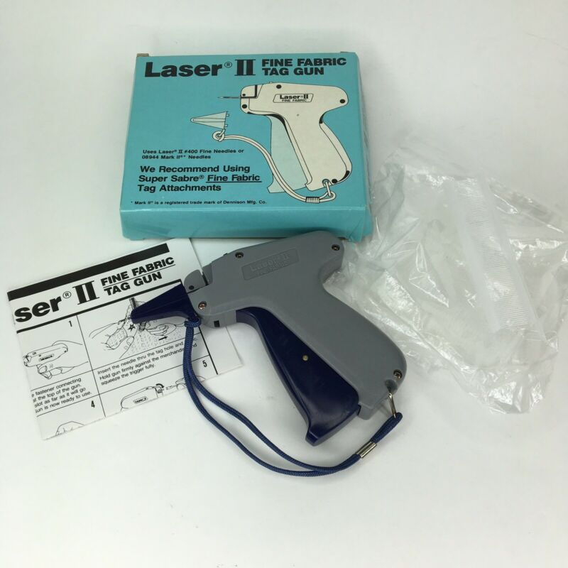 Laser II Fine Fabric Tag Gun Grip Clothing Price Tag Tool