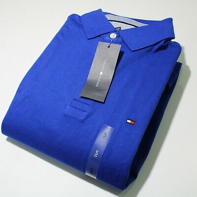 Men's Tommy Hilfiger Short Sleeve Royal Blue Polo Shirt Custom Fit | NWT
